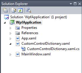 Custom Control with Resource Dictionary (WPF) - Visual Studio